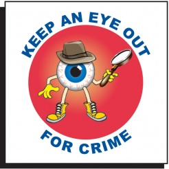 Keep An Eye Out For Crime Temporary Tattoo (Stock)