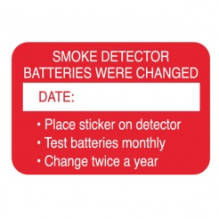 Smoke Detector Date Battery Change Stickers (Stock)
