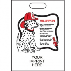 """Fire Safety Tips"" 11""x15"" Take Home Bags (Custom)"