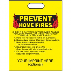 """Prevent Home Fires"" 11""x15"" Take Home Bags (Custom)"