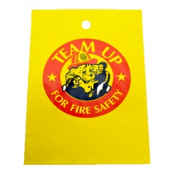 """TEAM UP FOR FIRE SAFETY"" Litter Bags (Stock)"