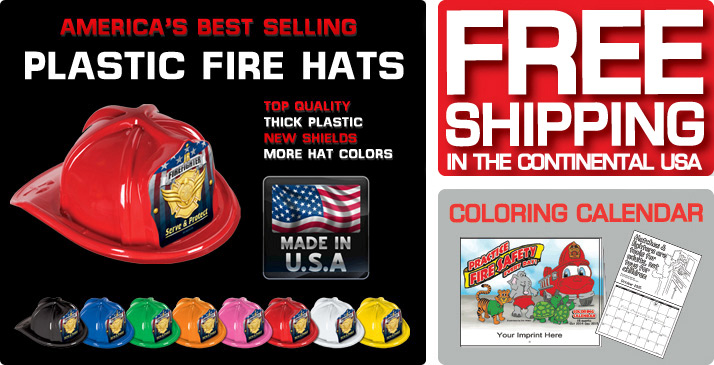 Fire Prevention Week Promotional Items Fire Education Items Children S Plastic Fire Safety Hats Imprinted Fire Safety Prevention Fire Department Recognition Awards And Gifts At Stephens Publishing